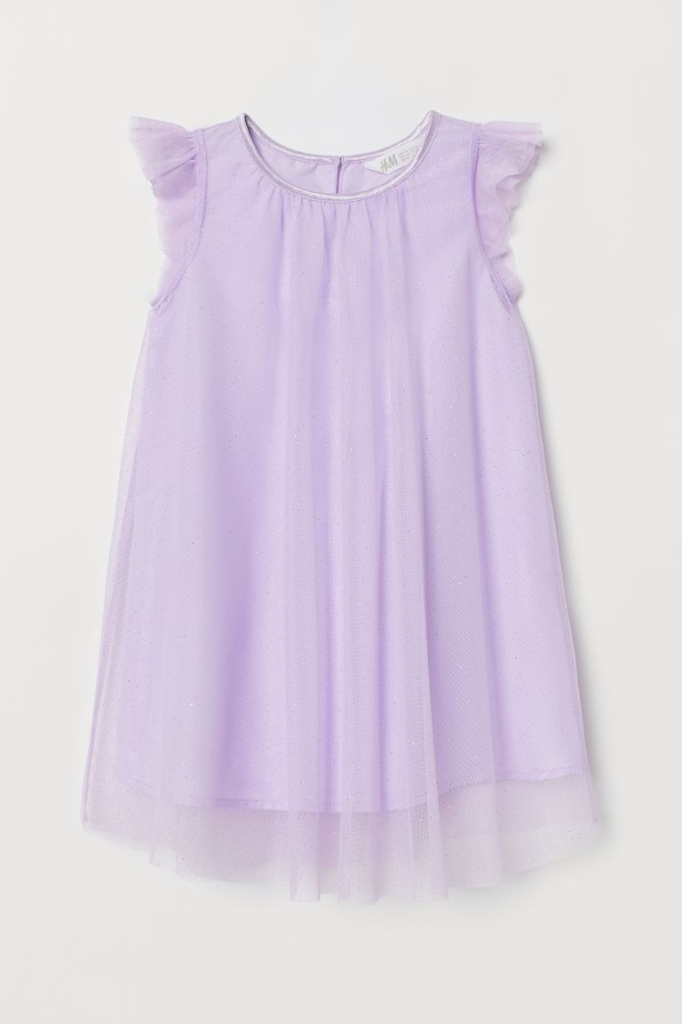 Tulle dress with glitter - Light purple - Kids | H&M GB