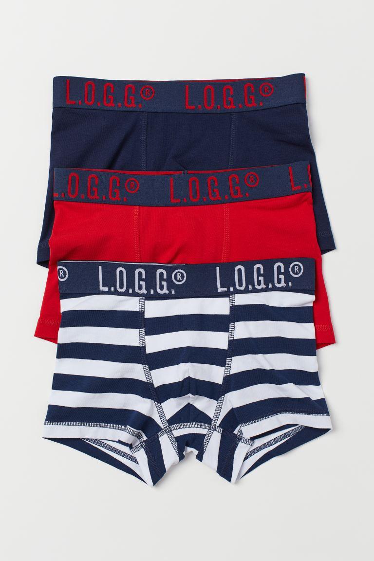 3-pack boxer shorts - Red/Dark blue - Kids   H&M GB