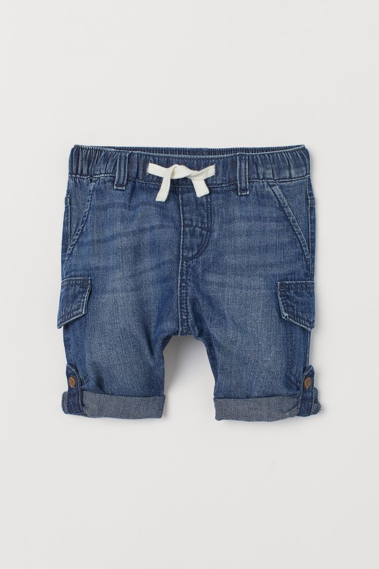 Pantalon en denim de coton - Bleu denim - ENFANT | H&M FR