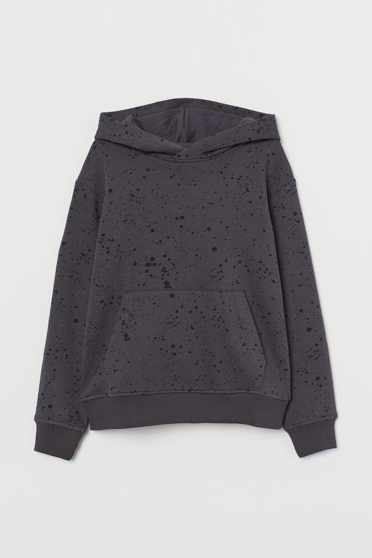 Hoodie - Dark gray/black - Kids | H&M US