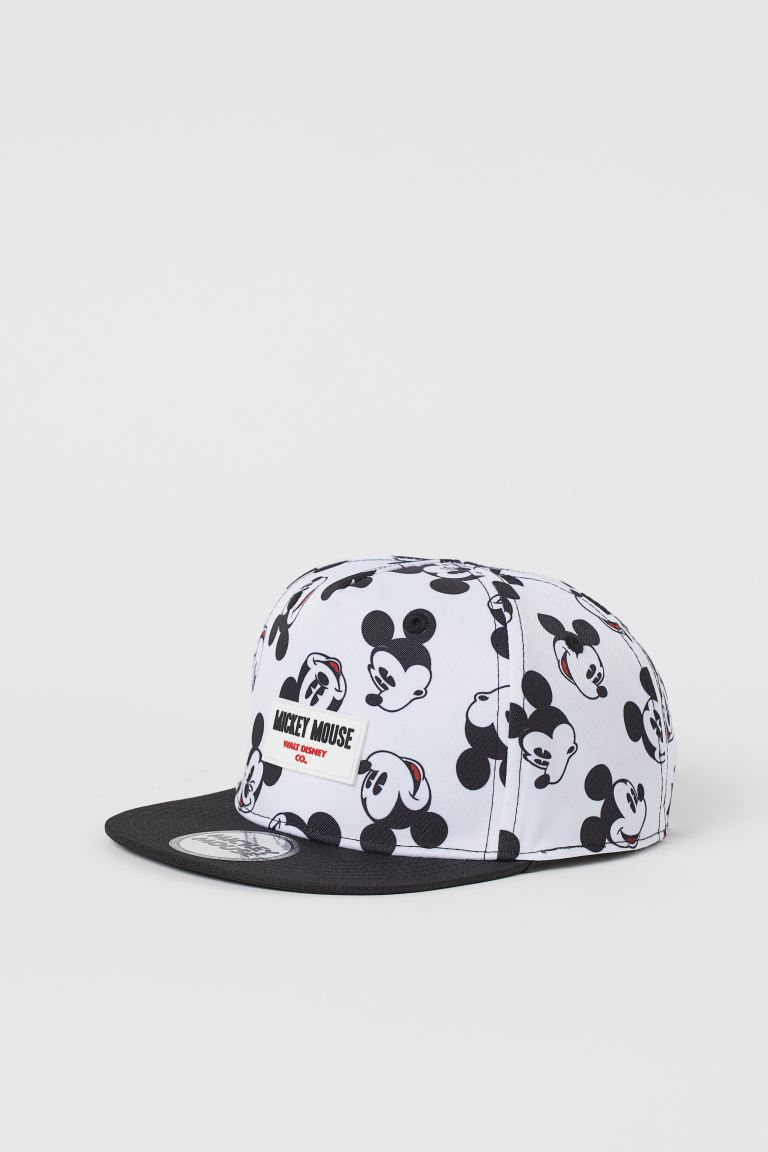 Motif-detail cap - Black/Mickey Mouse - Kids | H&M