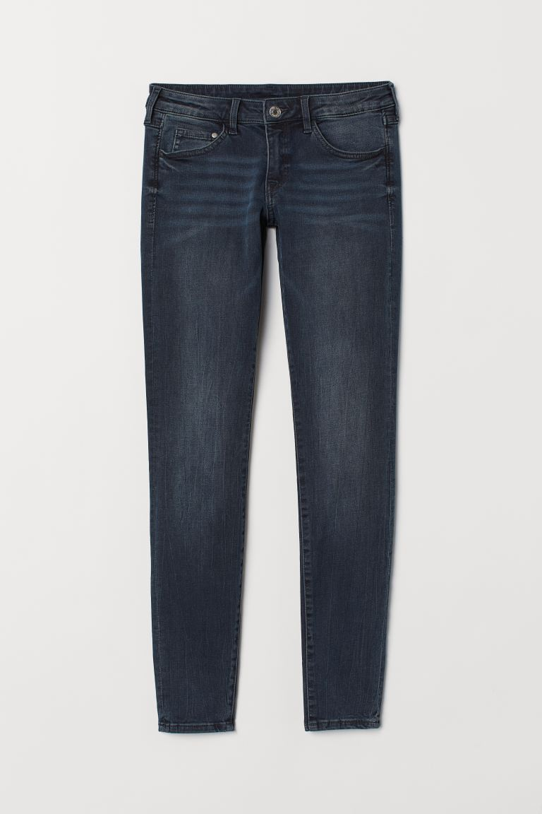 Super Skinny Low Jeans - Blu denim scuro/washed - DONNA | H&M IT