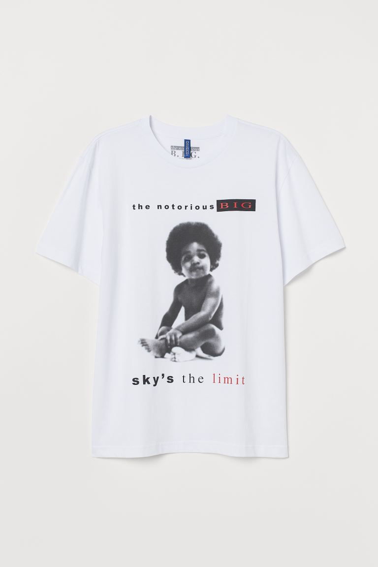 Printed T-shirt - White/The Notorious B.I.G. - Men | H&M