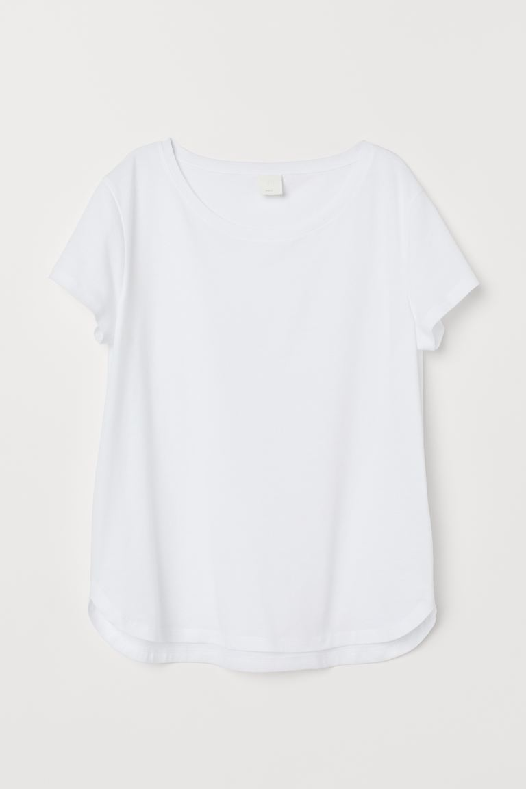 Jersey top - White - Ladies | H&M IN