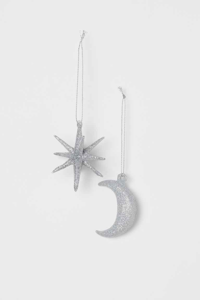2-pack Christmas decorations - Silver-coloured - Home All | H&M IE