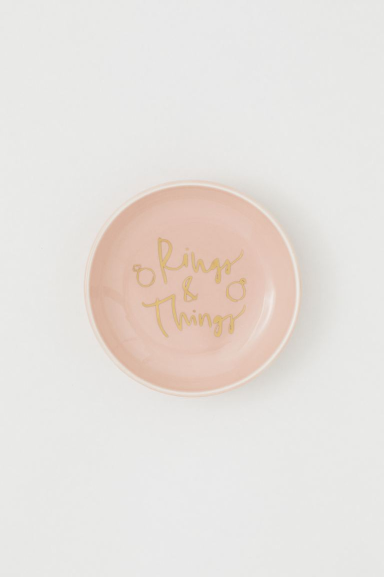 Coupelle en porcelaine - Rose clair/Rings & Things - HOME | H&M CH