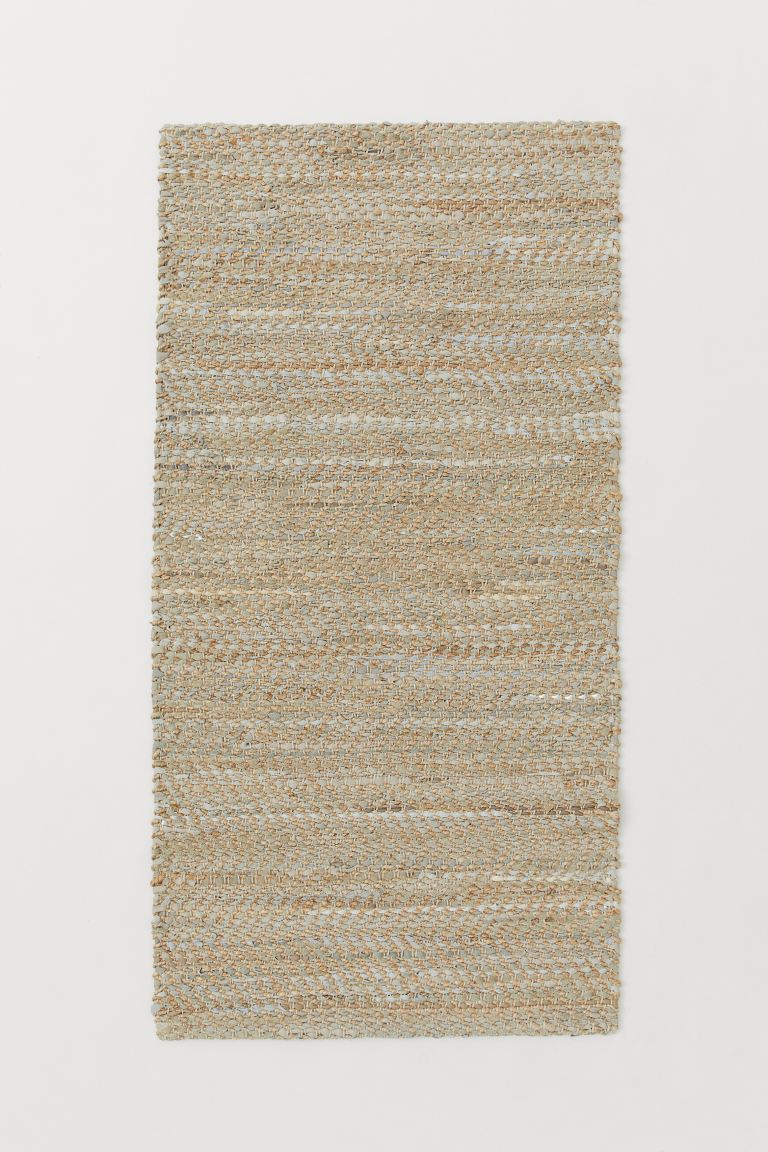 Jute and leather rug - Beige marl - Home All | H&M GB