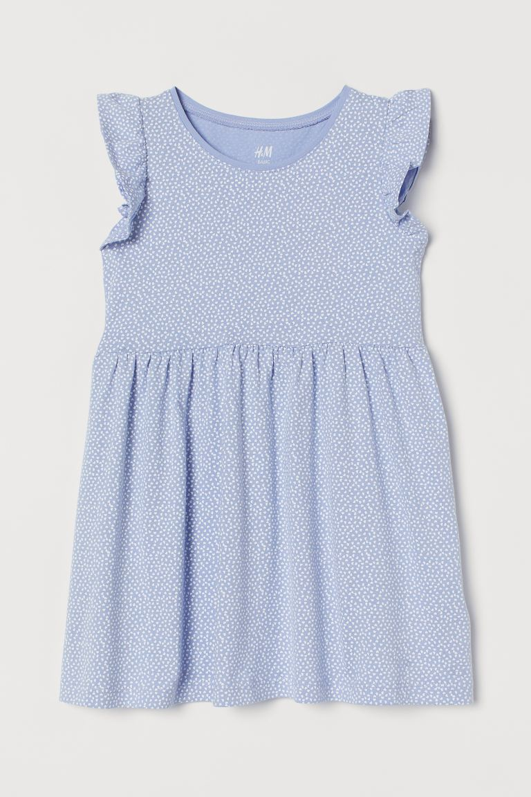 Jersey Dress - Light blue/hearts - Kids | H&M US