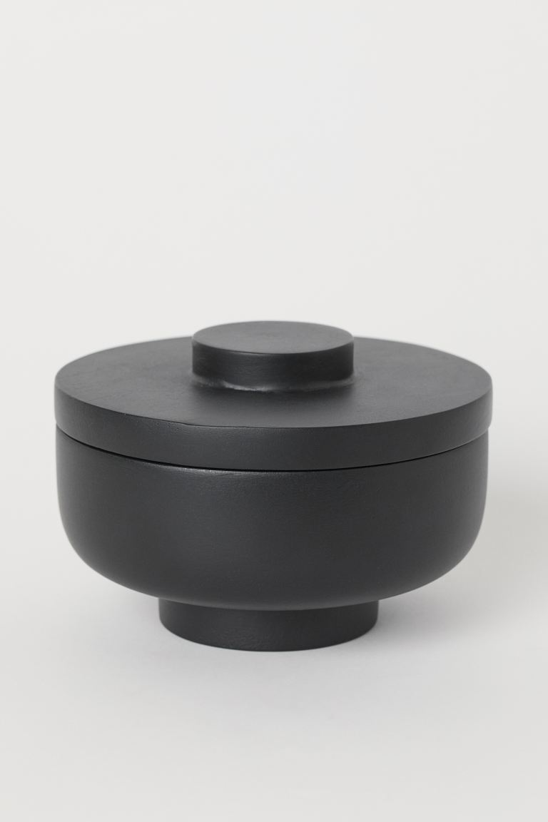 Wooden pot - Black - Home All | H&M GB