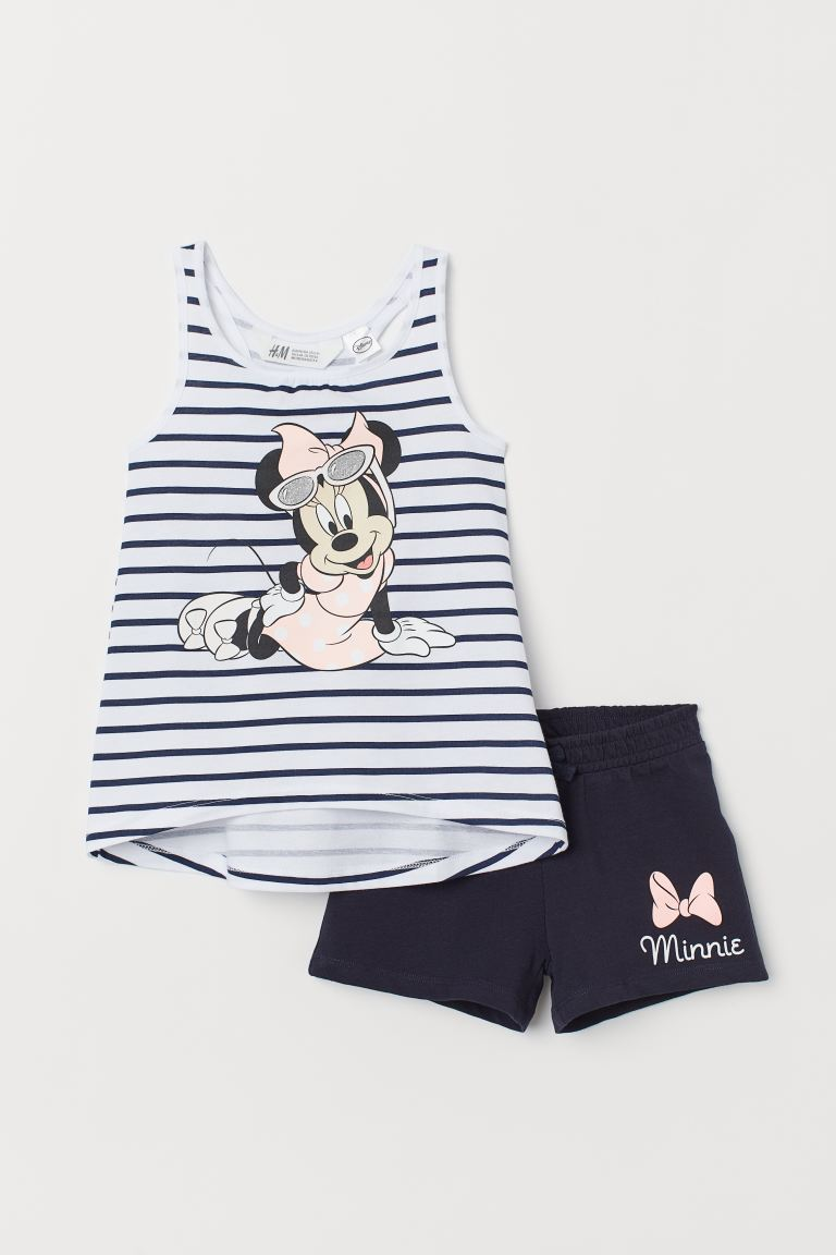 Tank Top and Shorts - Dark blue/Minnie Mouse - Kids | H&M US