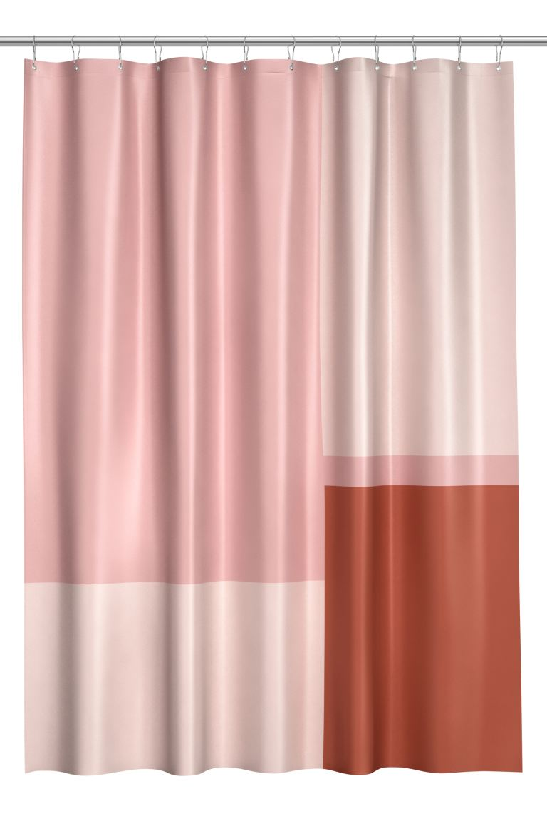 Color-block Shower Curtain - Light pink/multicolored - Home All | H&M CA