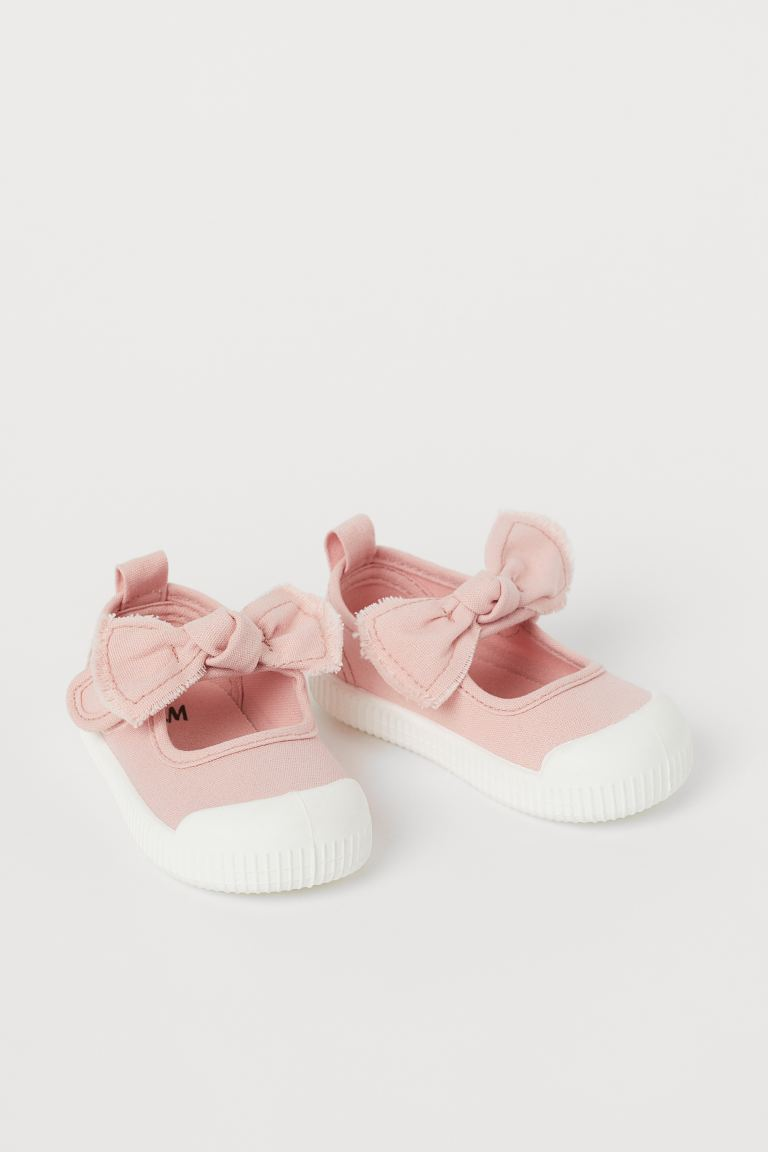 Cotton Canvas Sandals - Powder pink - Kids | H&M CA