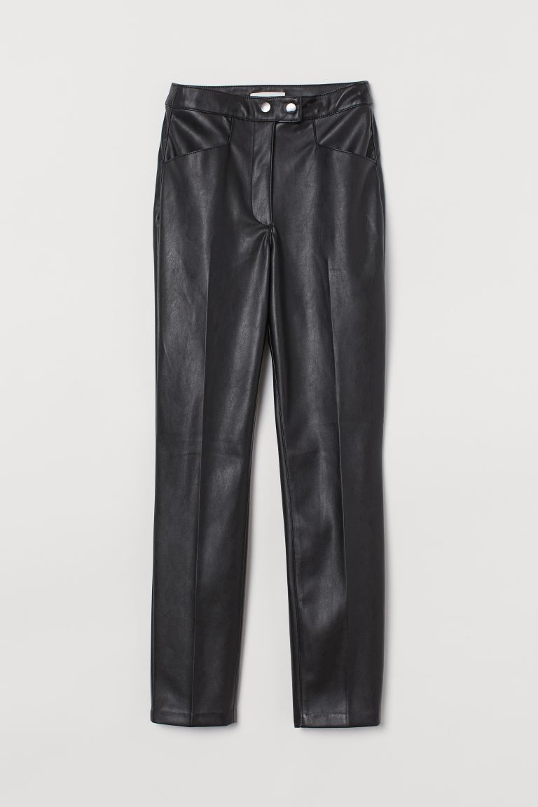 Faux Leather Pants - Black - Ladies | H&M US