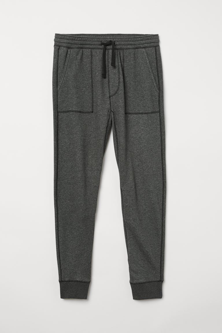 Joggers - Donkergrijs - HEREN | H&M BE
