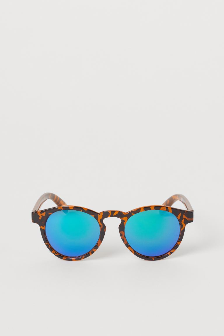 Round sunglasses - Orange/Patterned -  | H&M