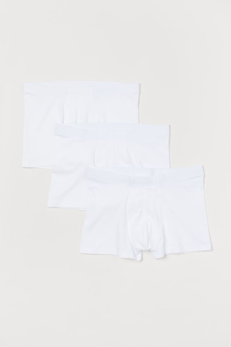 3-pack short trunks - White - Men | H&M