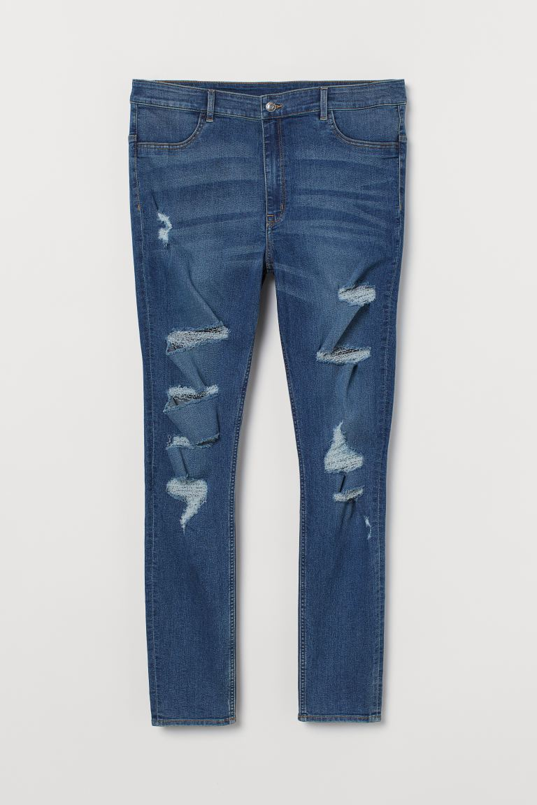 H&M+ Super Skinny High Jeans - Blau - Ladies | H&M DE