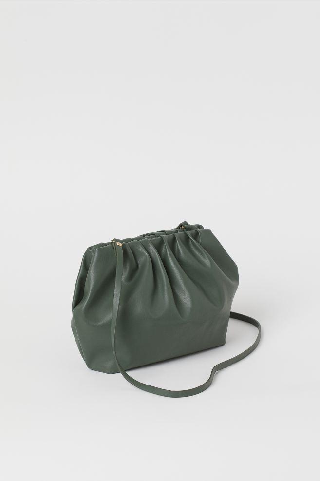 Soft Shoulder Bag - Khaki green - Ladies | H&M US 2