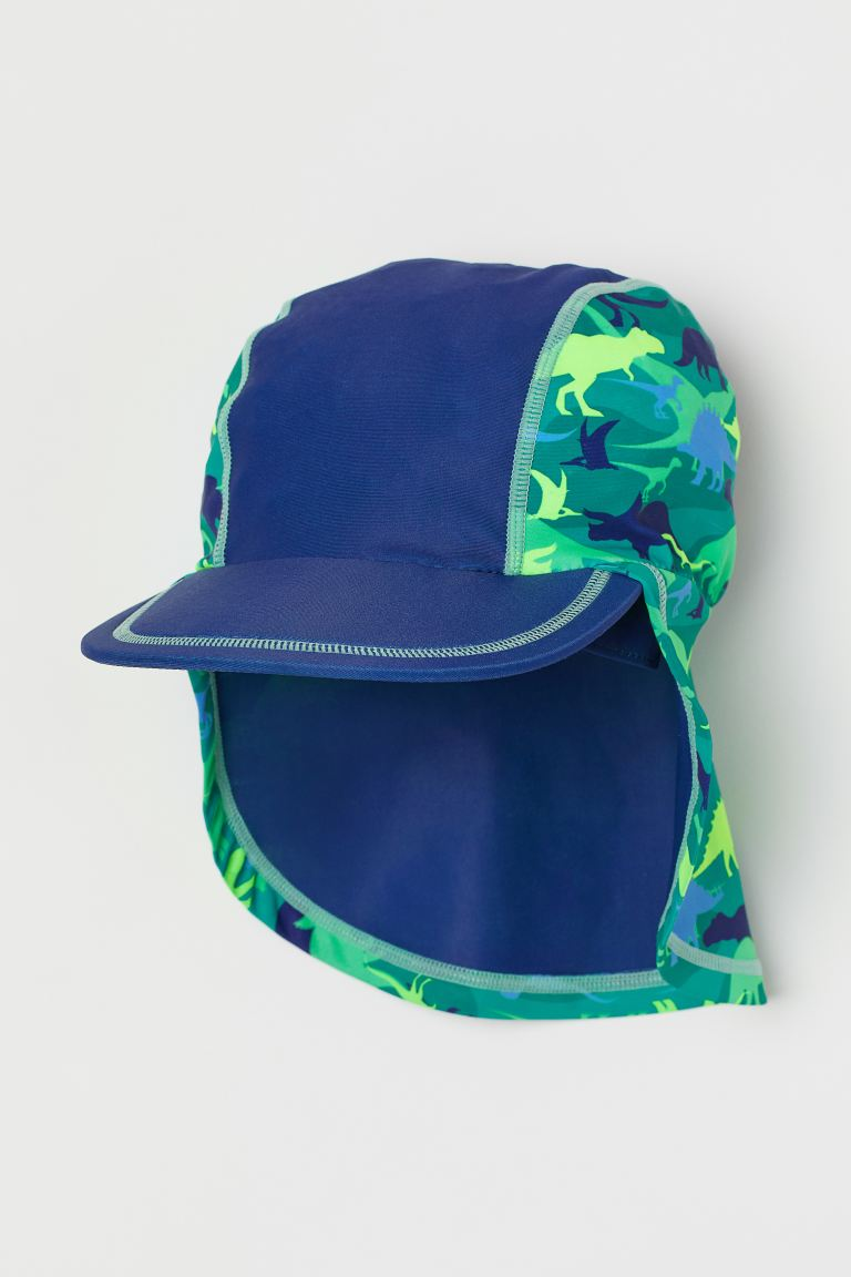 Sun cap with UPF 50 - Dark blue/Dinosaurs - Kids | H&M