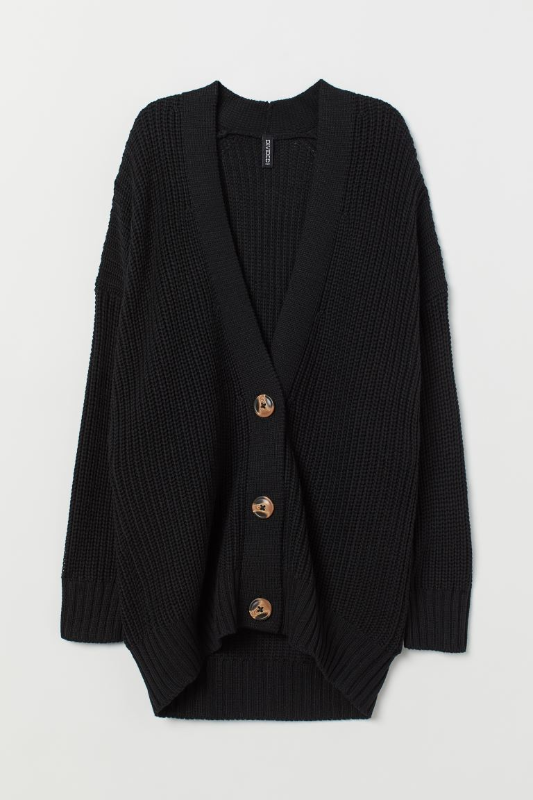 Oversized Cardigan - Black - Ladies | H&M US