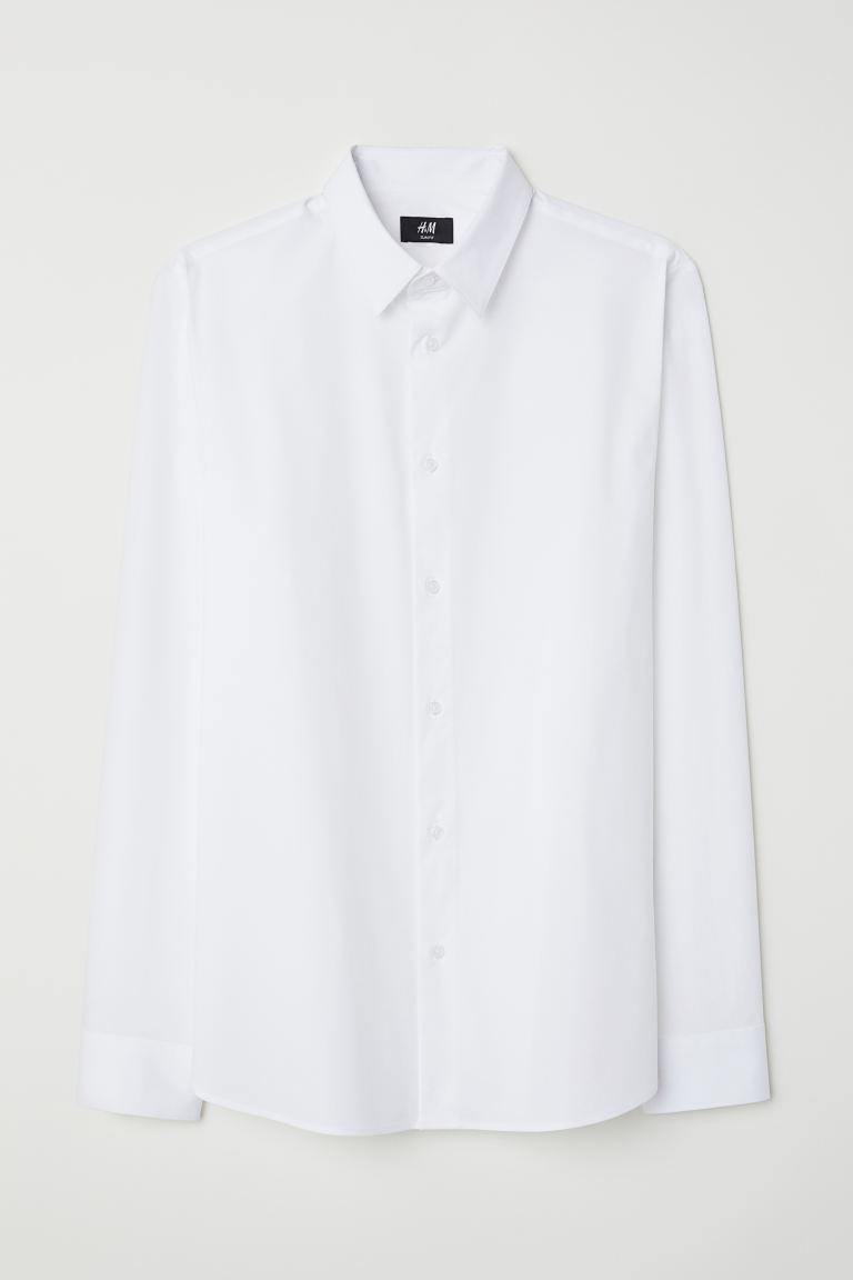 Shirt Muscle Fit - White -  | H&M IN