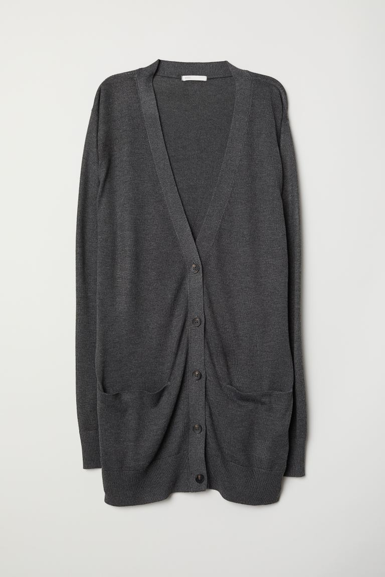 Long cardigan - Dark grey - Ladies | H&M