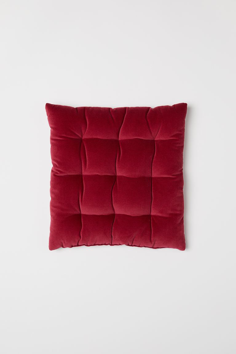 Velvet Seat Cushion - Dark red - Home All | H&M US