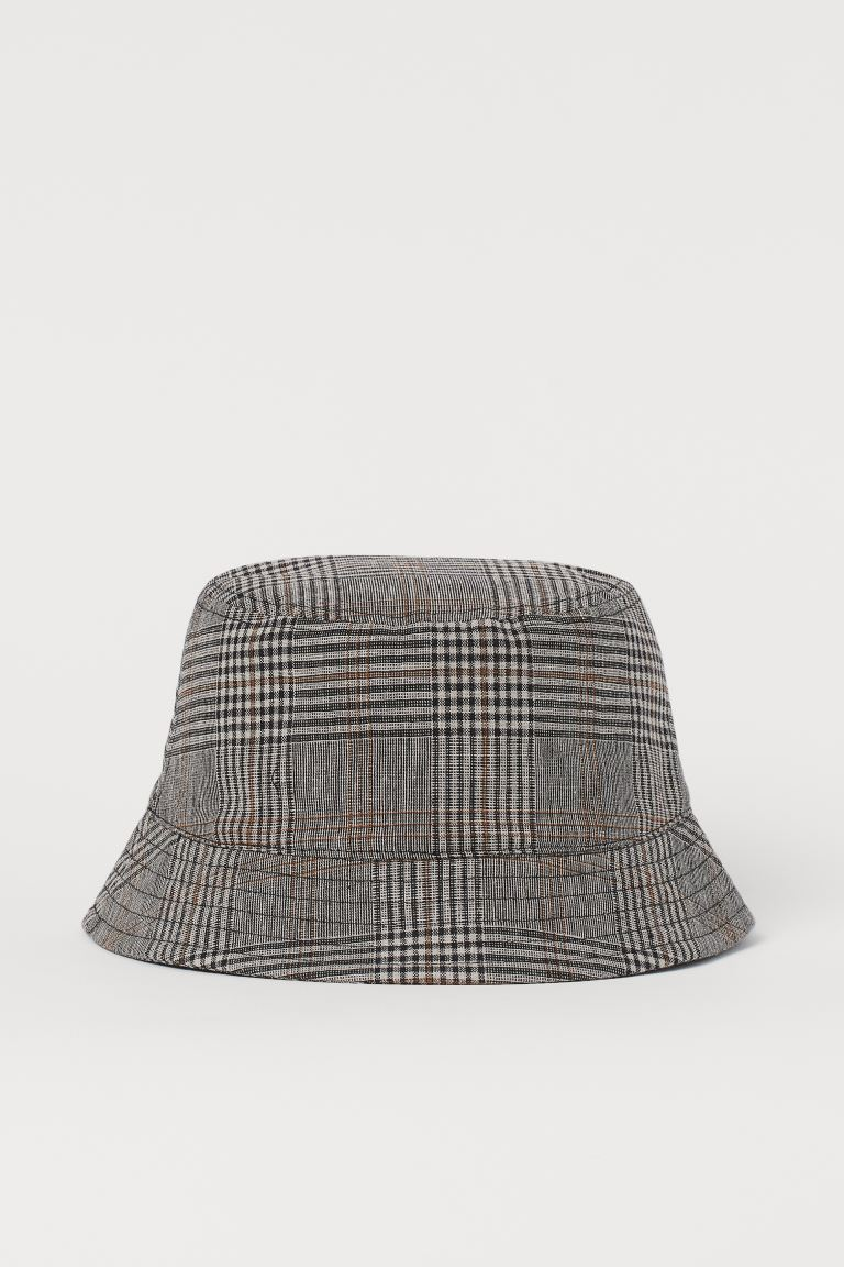 Checked bucket hat - Grey/Checked - Men | H&M
