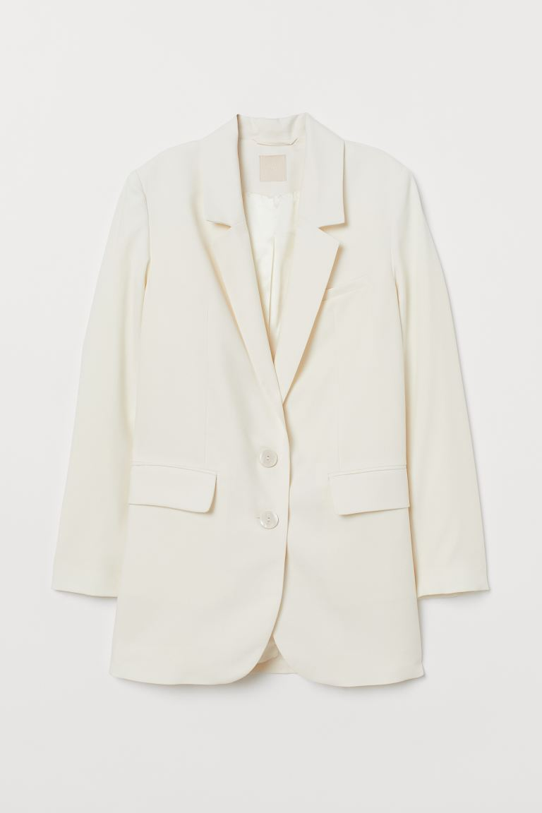 Single-breasted jacket - Cream - Ladies | H&M IE