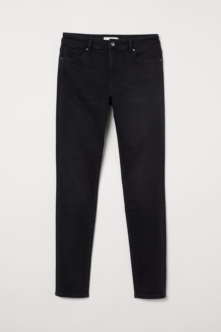 Skinny Regular Jeans - Nearly black - DAM | H&M FI