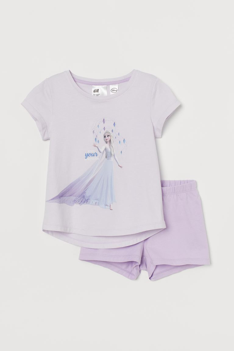 Jersey pyjamas - Light purple/Frozen - Kids | H&M