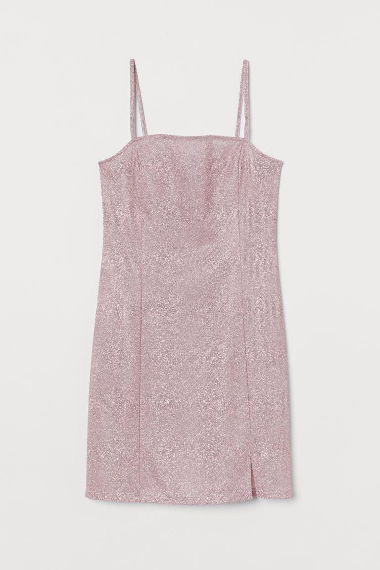Glittery dress - Light pink - Ladies | H&M GB