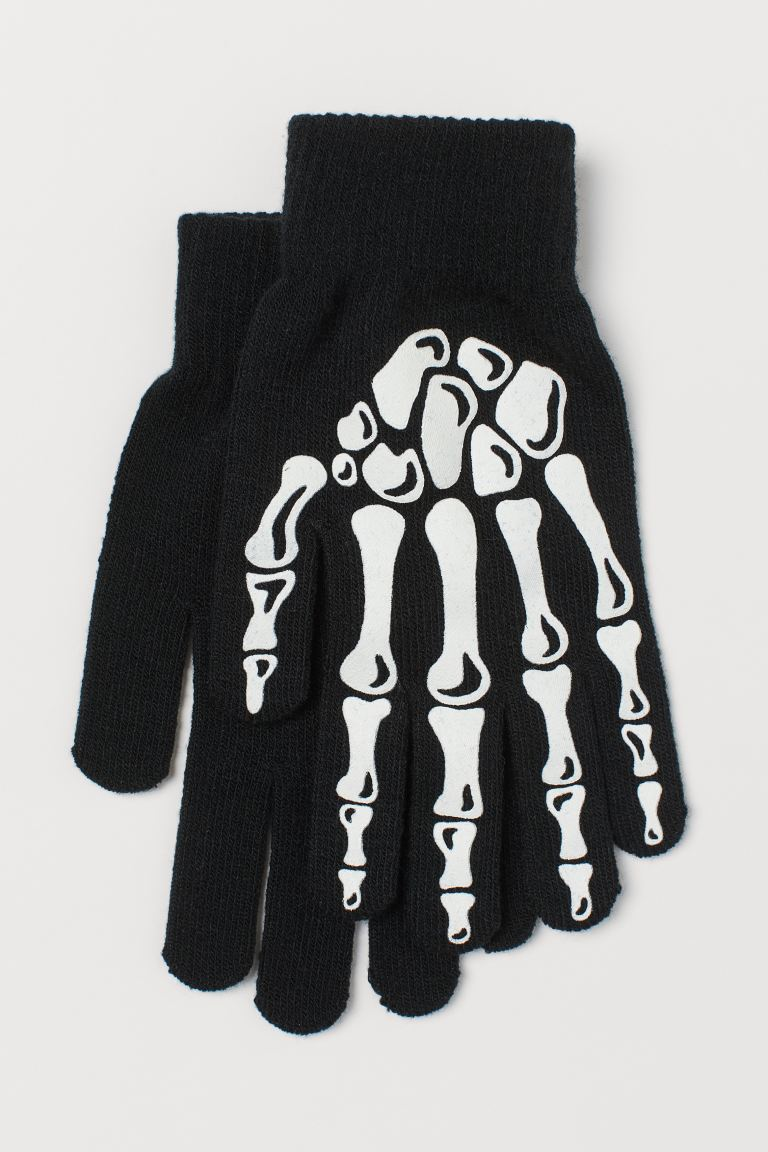 Gants phosphorescents - Noir/phosphorescent - HOMME | H&M CH
