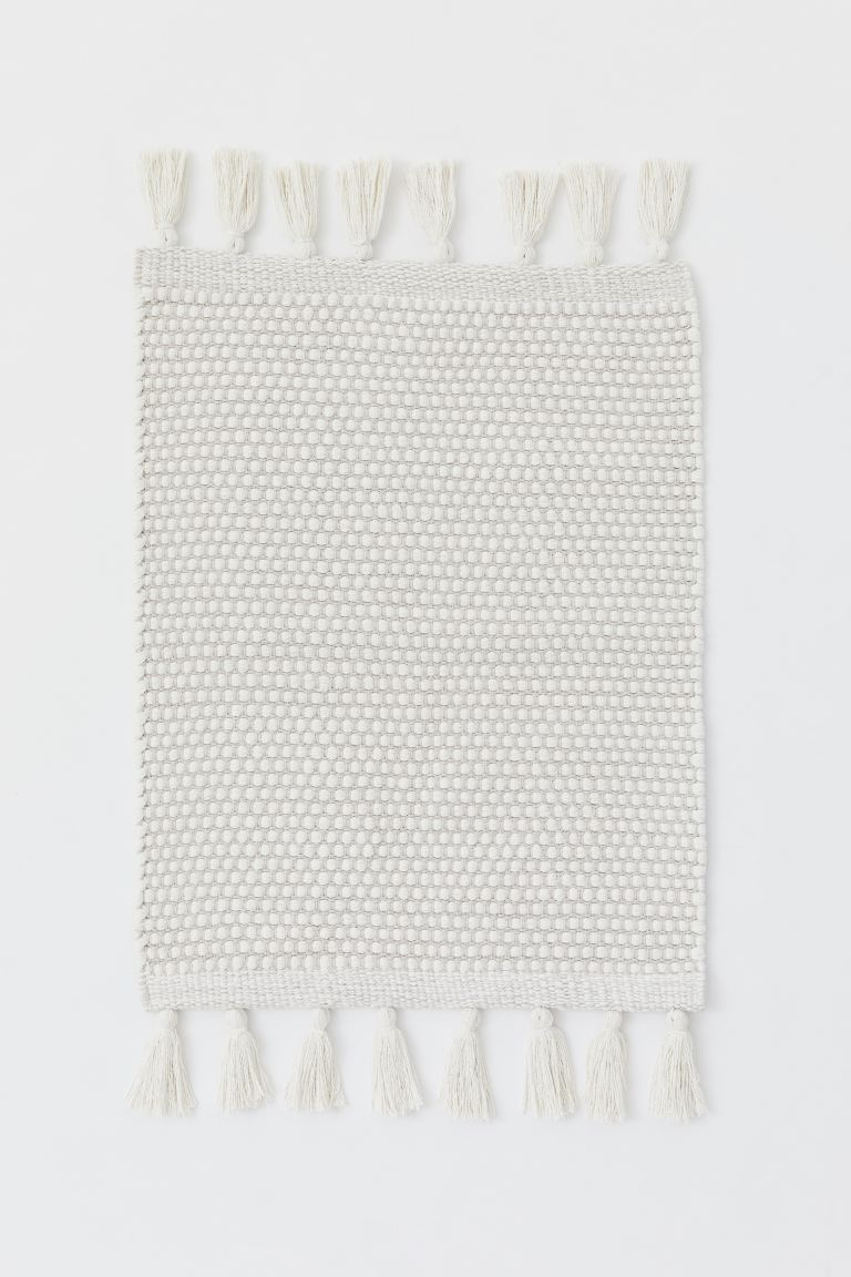 Cotton rug - Light greige/Natural white - Home All | H&M GB