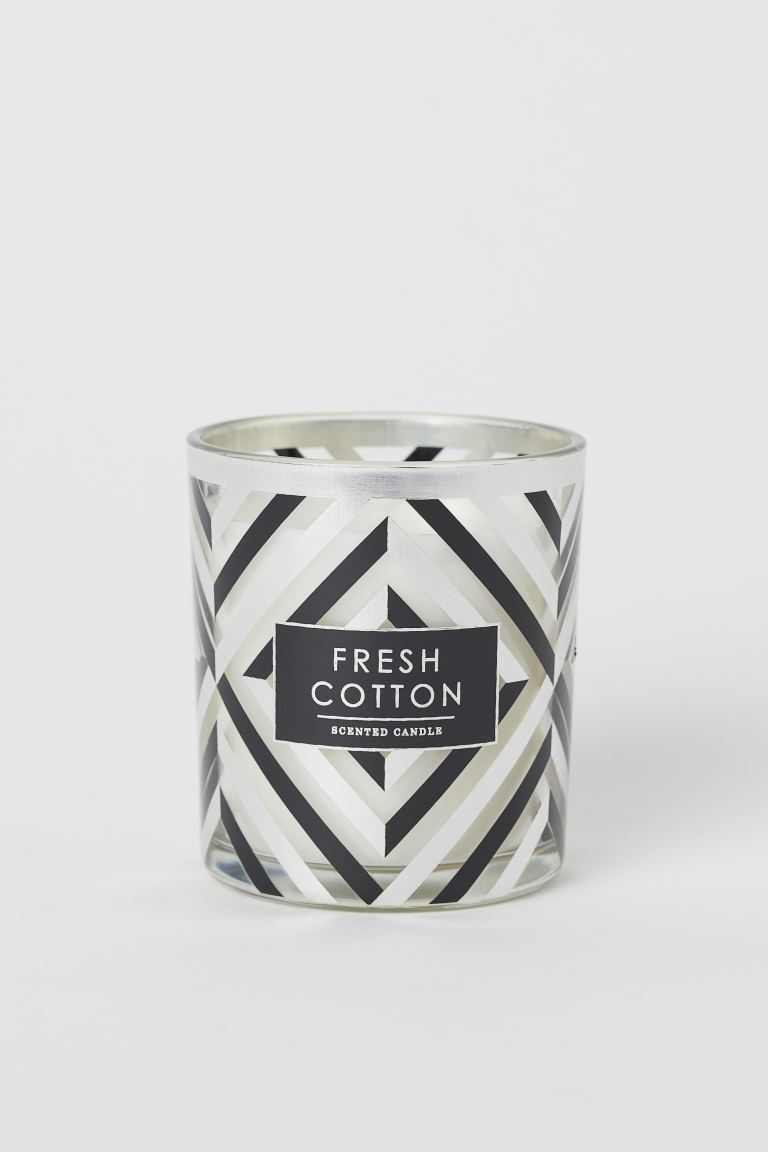 Vela aromática en frasco - Plateado/Fresh Cotton - HOME | H&M ES