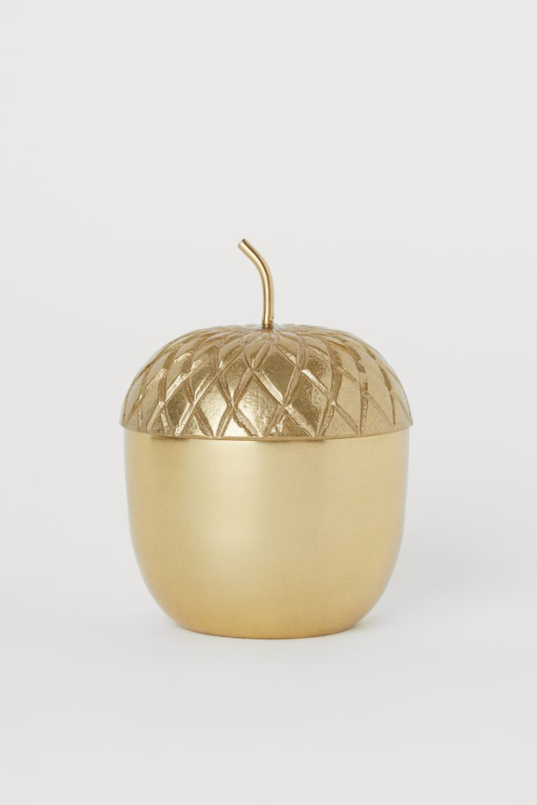 Metal Container - Gold-colored/acorn - Home All | H&M US