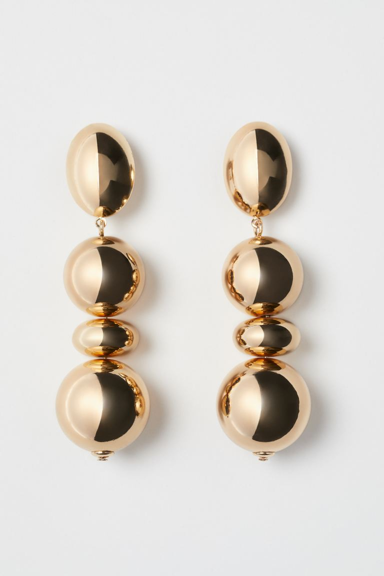 Long Clip Earrings - Gold-colored - Ladies | H&M US