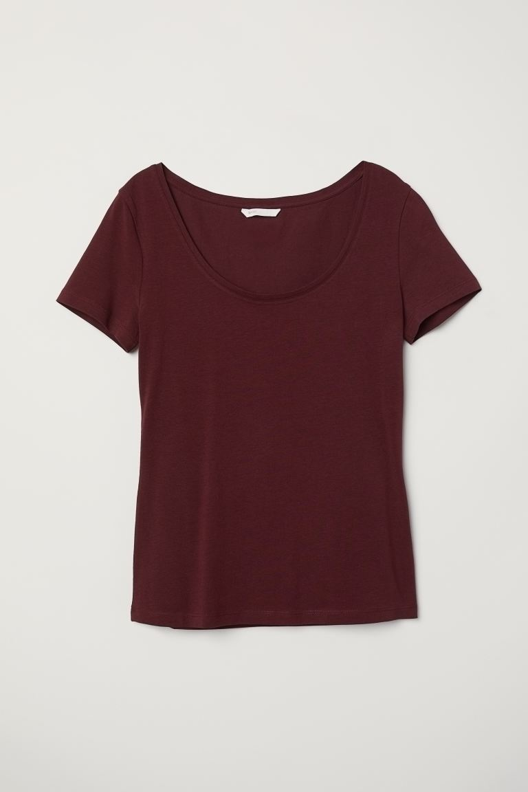 Jersey top - Burgundy - Ladies | H&M