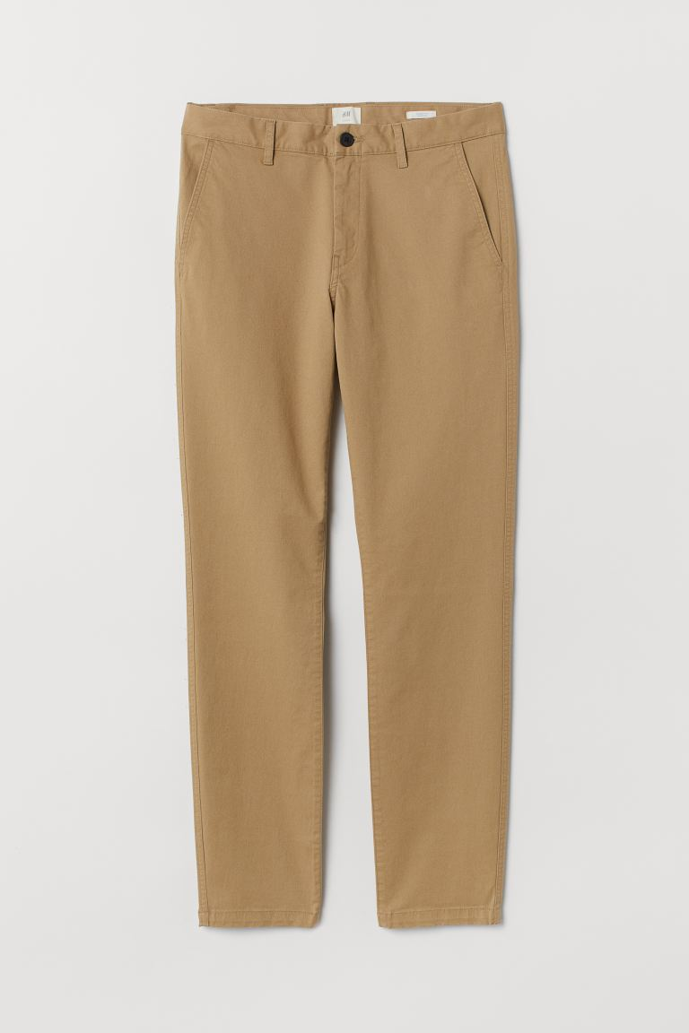 Skinny Fit Cotton Chinos - Beige - Men | H&M US