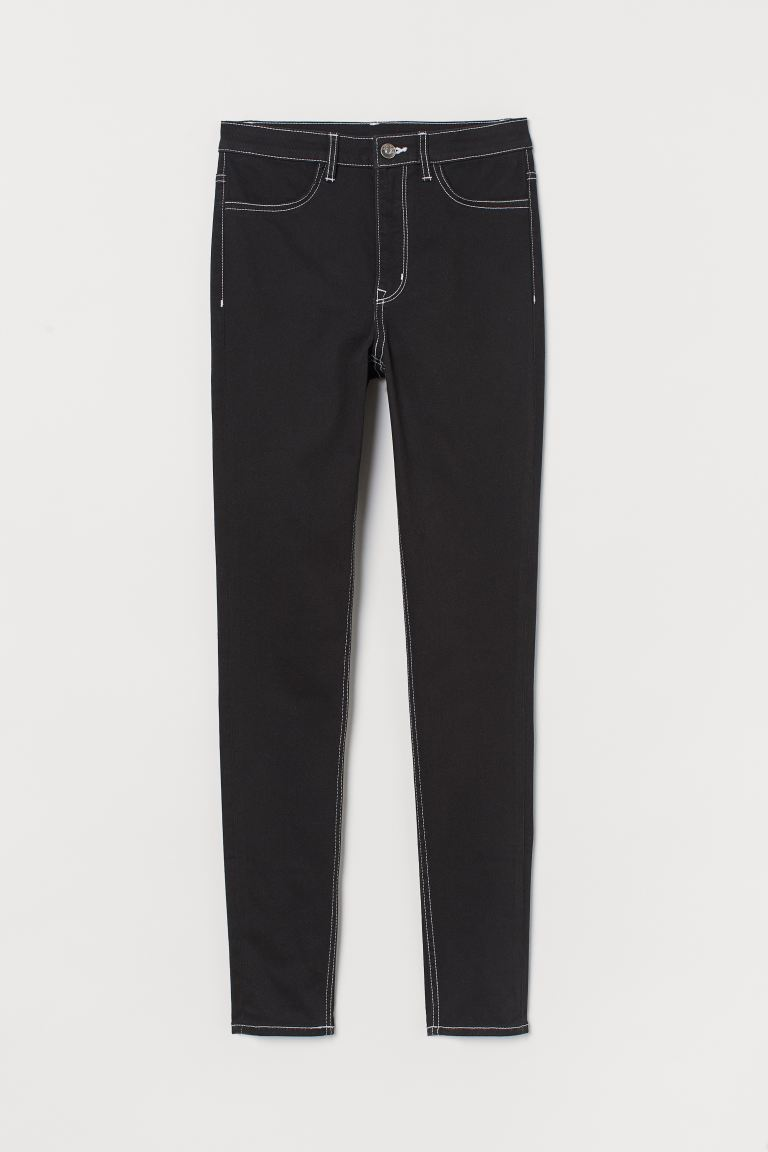 Super Skinny High Jeans - Noir/blanc -  | H&M BE
