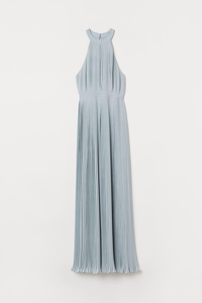Verbazingwekkend Geplisseerde maxi-jurk - Lichtturkoois - DAMES | H&M NL JP-91