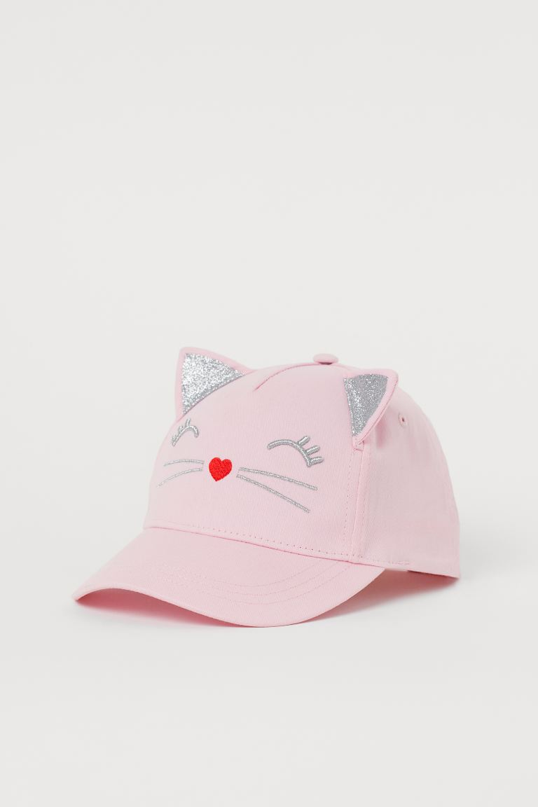 Cap with ears - Light pink/Silver-coloured - Kids | H&M GB