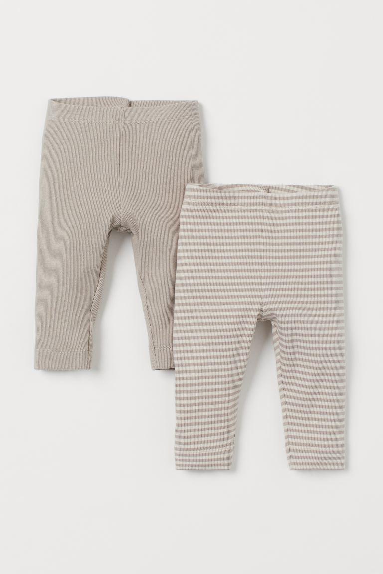 2-pack cotton leggings
