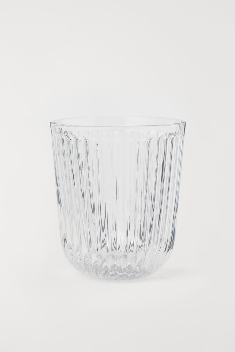 Verre à eau rainuré - Verre transparent - Home All | H&M CA