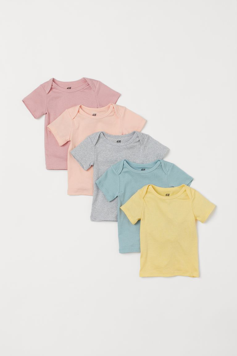 5-pack Cotton T-shirts - Pink - Kids | H&M CA