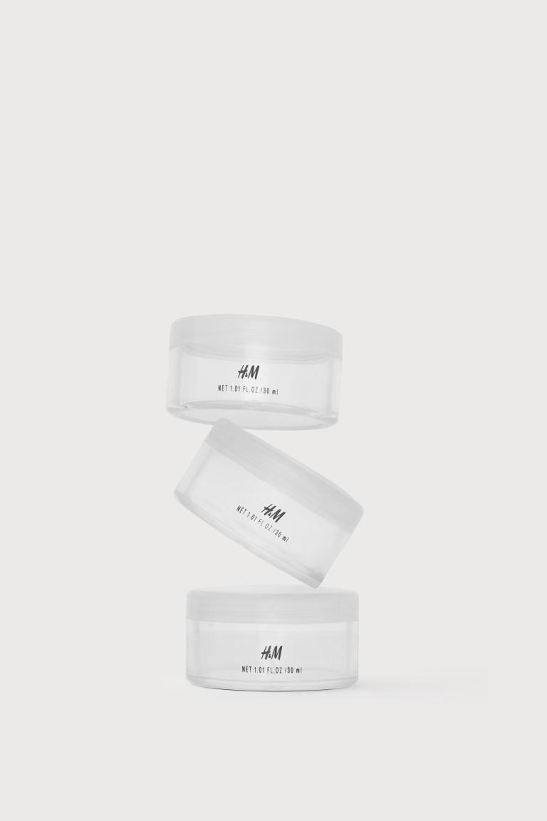 Travel jar 3-pack - Transparent - Ladies   H&M GB