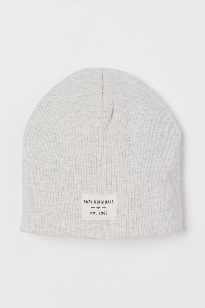 Ribbed jersey hat