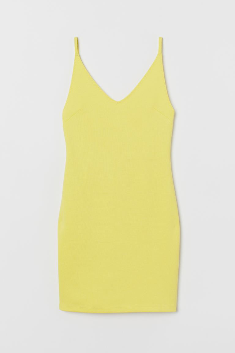 Fitted Dress - Light yellow - Ladies | H&M US