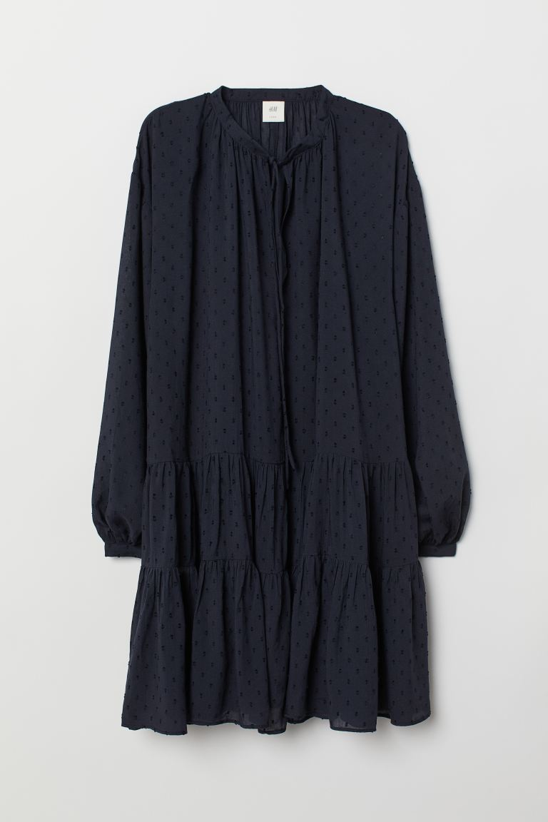 Modal-blend tunic - Dark blue - Ladies | H&M GB