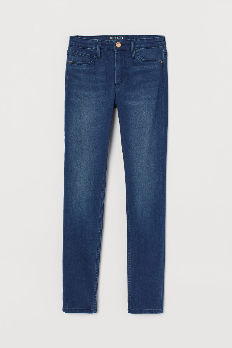 Super Soft Skinny Fit Jeans - Dark blue - Kids | H&M IE